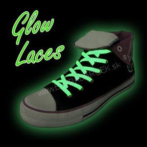 Svietiace šnúrky do topánok- biele 44863338807