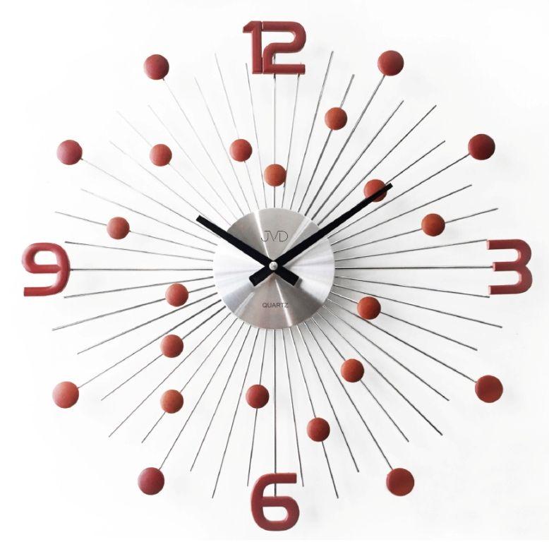 Nástenné hodiny Slnko s číslami - hnedé empty 47490632664