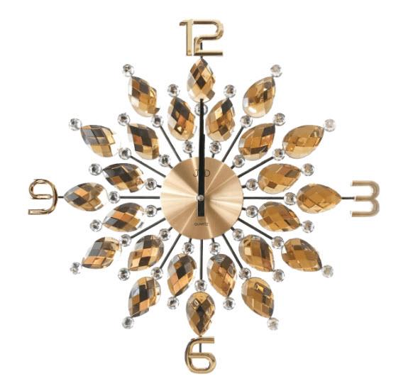 46091d1a3 Nástenné hodiny s kamienkami - zlaté empty