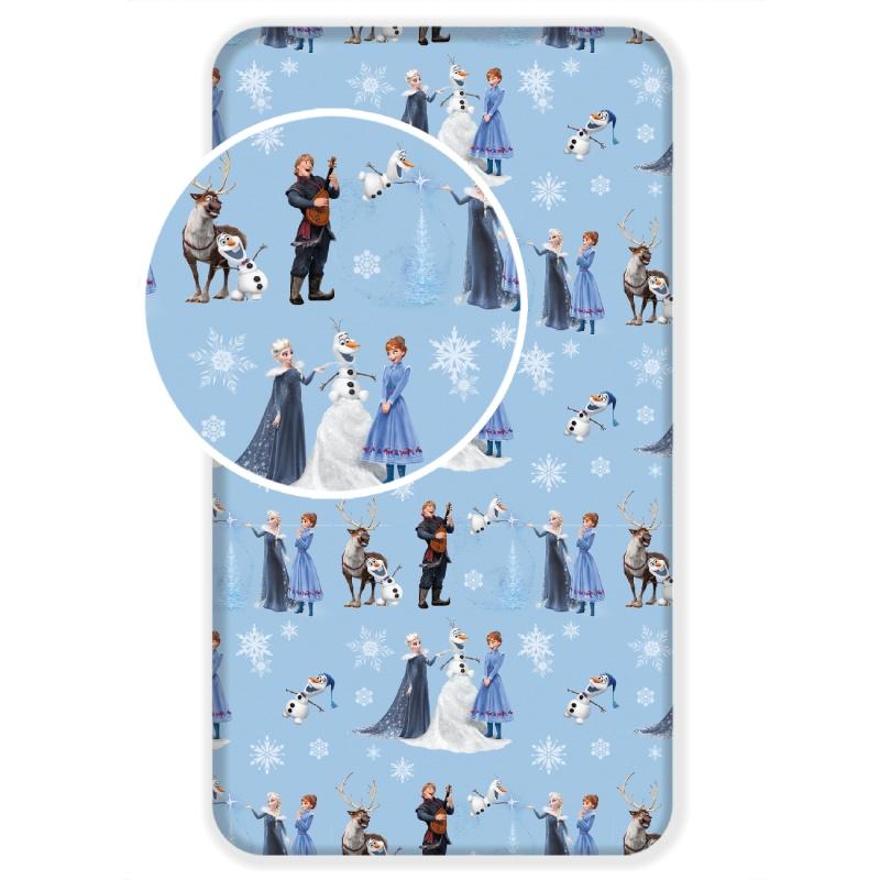 987a405eaa21 Disney Frozen napínacia plachta na detskú posteľ- modrá empty
